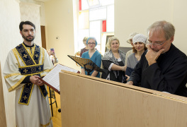 Cambridge, Ontario, Canada. 2 May 2015. Choir of the church of Saint Patriarch Tikhon Confessor and New Martyrs of Russia. © Igor Ilyutkin