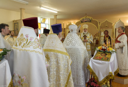 Cambridge, Ontario, Canada. 2 May 2015. Moments of orthodox Divine Liturgy at the church of Saint Patriarch Tikhon Confessor and New Martyrs of Russia. © Igor Ilyutkin