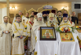 Cambridge, Ontario, Canada. 2 May 2015. Group photo of clergy at the church of Saint Patriarch Tikhon Confessor and New Martyrs of Russia. © Igor Ilyutkin